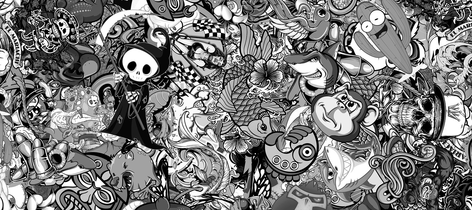 BW Sticker Bomb Previous Next Image 1 Of 7