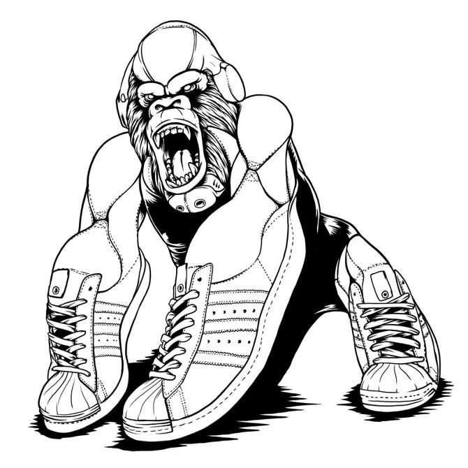 Nike black hip hop shoes