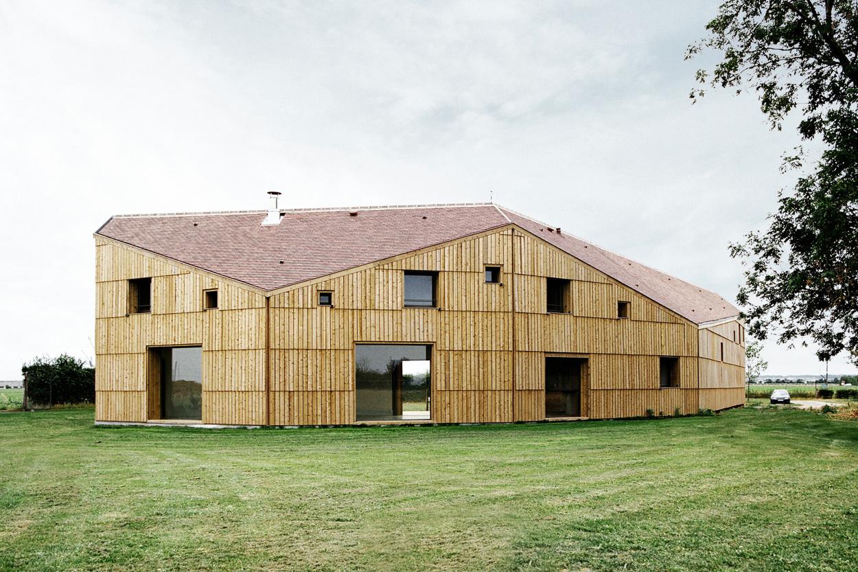 maison hangar agricole i cagny guillaume ramillien architecture urbanisme illustration. Black Bedroom Furniture Sets. Home Design Ideas
